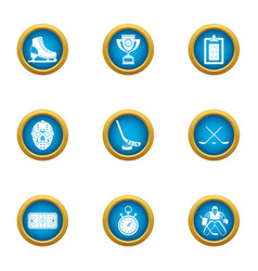 Training camp icons set flat style vector