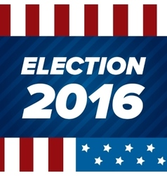 Usa election badge vector
