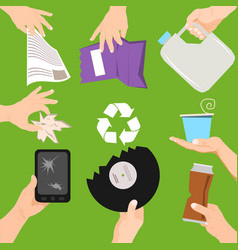 waste poster concept people vector image