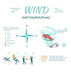 Wind Infographic Flat Design vector