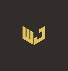Wj logo letter initial logo designs template with vector