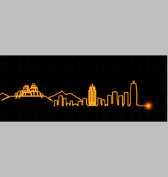 zhengzhou light streak skyline vector image