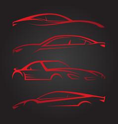 business set of modern car emblems vector image