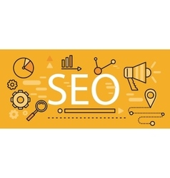 Concept Search Engine Optimization vector image