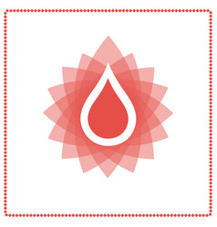 donor blood drop vector image