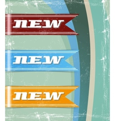 retro set of new tags vector image vector image