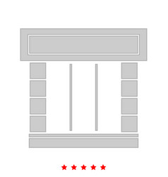 shopfront it is icon vector image vector image