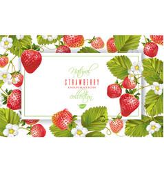 strawberry horizontal banner vector image