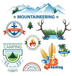 travel emblems vector image vector image