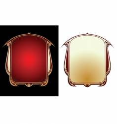 two red gold frames vector image vector image