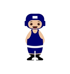 Cartoon boxer vector image