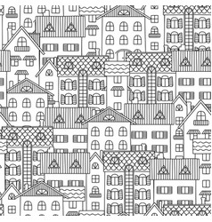 contour seamless pattern vector image vector image