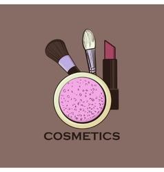 Cosmetics label for design vector image