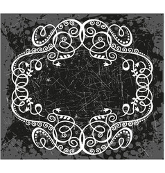 decorative frame with pattern vector image vector image
