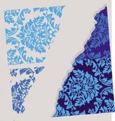 floral wallpaper element vector image vector image