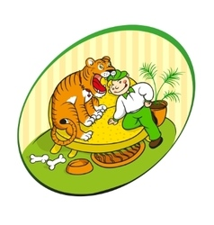 home tiger vector image vector image