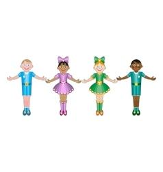 International Children isolated on white vector image