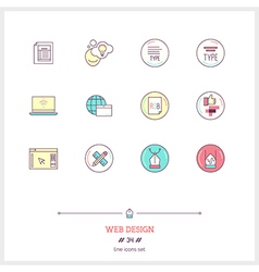 Web Design Line Icons Set vector image