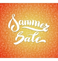 Word Sale lettering with sale vector image