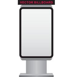 blank billboard and lightbox on white backg vector image vector image