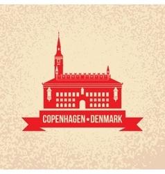 City hall The symbol of Copenhagen Denmark vector image