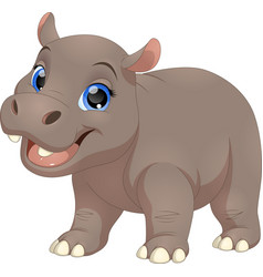 cute funny hippo vector image
