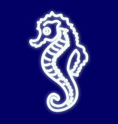 the image of a sea horse vector image vector image