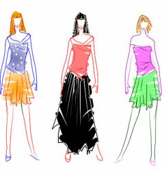 fashion design sketches vector image