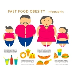 Obesity infographic template vector image vector image