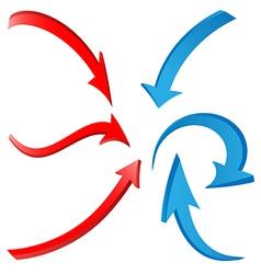 3d arrows 1 vector