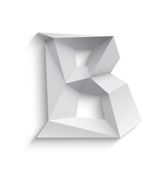 3d letter B on white vector image