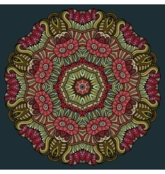 Abstract decorative floral ethnic colorful vector image
