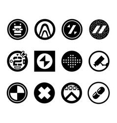 Abstract futuristic logos sci fi icons vector