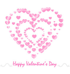 Abstract pink heart for valentines day vector