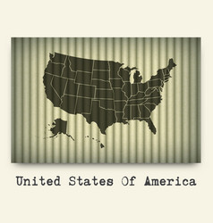 America map on cardboard vector