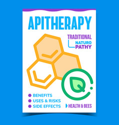 apitherapy creative promotional poster vector image