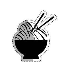 Asian food gastronomy vector image