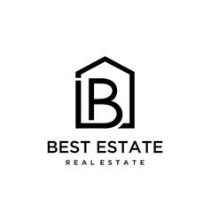 B house logo vector
