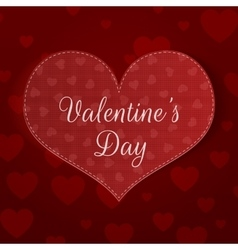 Big Valentines Day Heart Banner with Pattern vector image