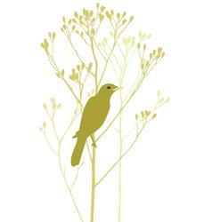 bird is sitting in tree vector image