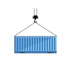 Cargo or shipping container vector