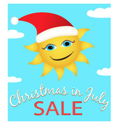 christmas in july sale poster vector image