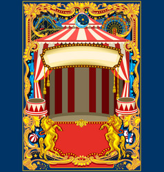 circus poster frame vector image