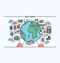 concept of travel and tourism horizontal vector image