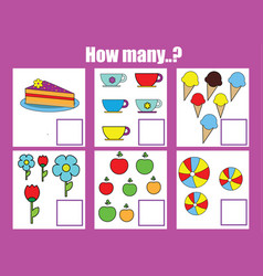 counting educational children game math kids vector image