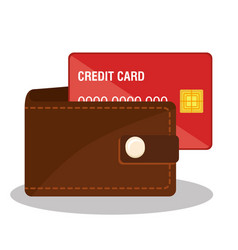 credit card electronic commerce vector image