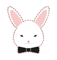 Cute Rabbit Head2 vector