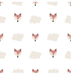 Cute seamless pattern scandinavian style vector