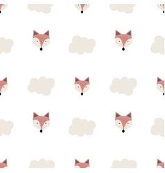 Cute seamless pattern scandinavian vector