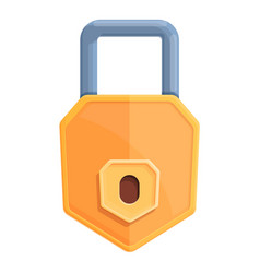 Defend password protection icon cartoon style vector
